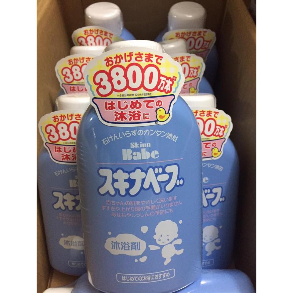 Sữa tắm trị rôm sẩy Skina Babe Nhật 500ml