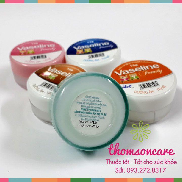 Kem nẻ Vaseline Family, dưỡng ẩm - Trị nẻ 15g - Nhỏ gọn tiện dụng - Chống nẻ hiệu quả - Chính hãng.