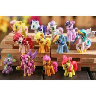 Bộ 12 chú ngựa thiên thần poly 7cm thumbnail