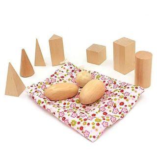 Giáo cụ Montessori – 10 khối hình học (loại mini)