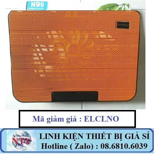 (Nhập mã ELCLNO giảm thêm 5%) Quạt tản nhiệt Cooling Pad N99 - 1 quạt lớn