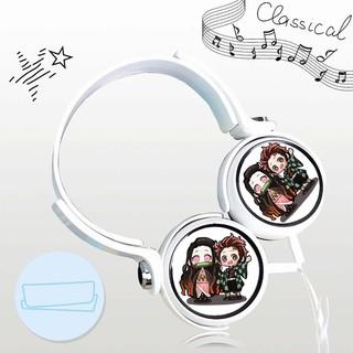 Tai nghe KIMETSU NO YAIBA thiết kế thông minh cá tính cắm dây có mic anime chibi