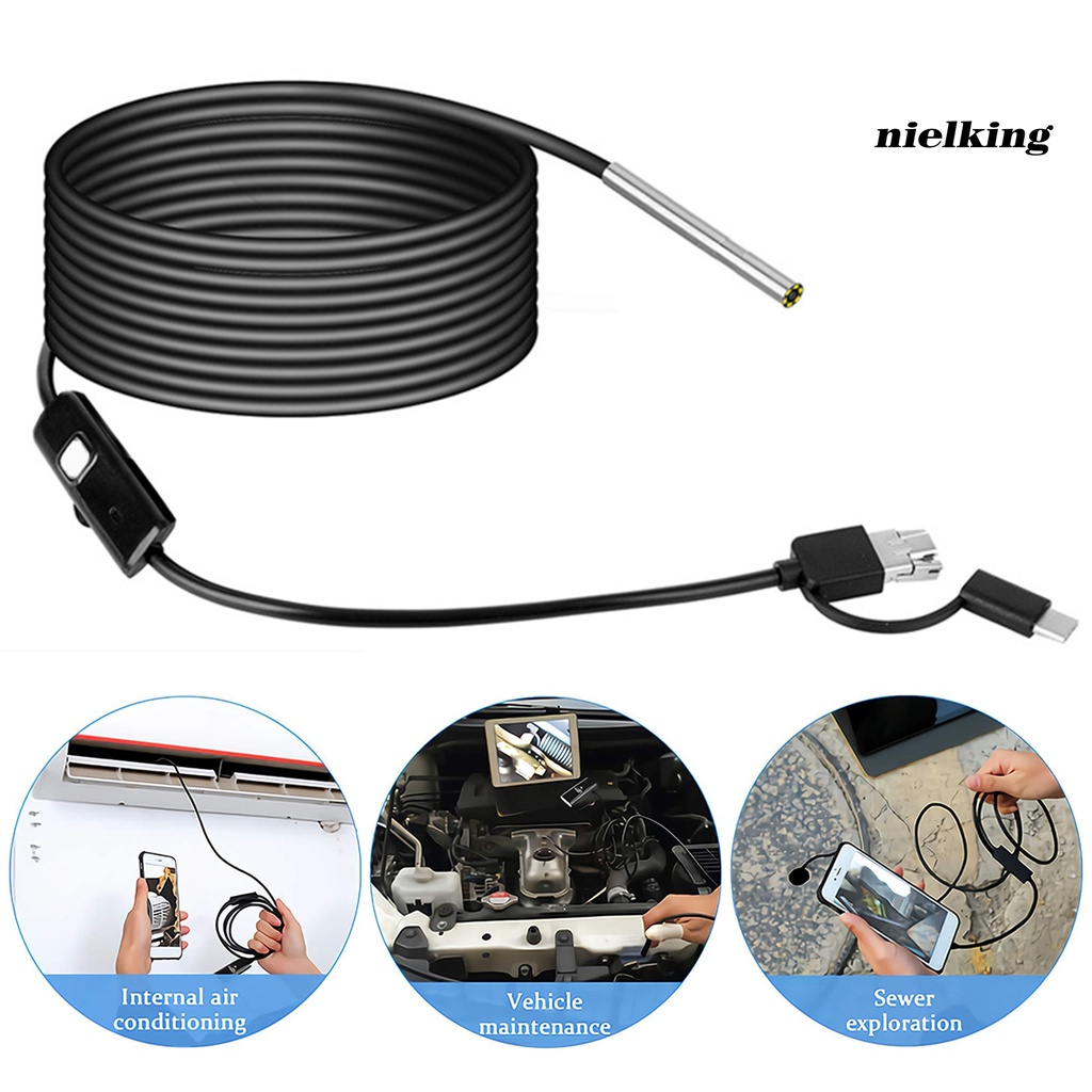 nielking AN100 Inspection Camera HD Detect Instruments 3-in-1 High Definition 3.9mm Endoscope for Mobile Phone