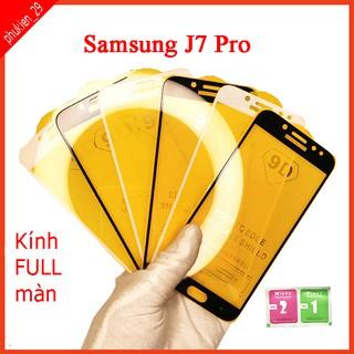 Kính cường lực Samsung J7 Pro full màn hình, Ảnh thực shop tự chụp, tặng kèm bộ giấy lau kính taiyoshop2 thumbnail