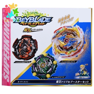 Flame B171 Superking Triple Booster Set Tempest Dragon Curse Satan Naked Diabolos Beyblade Burst Kids Toys Set