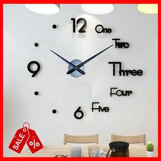 (27 mẫu CỠ LỚN) Đồng hồ treo tường dán tường Kích thước 120x120cm - đồng hồ treo tường nổi 3D