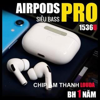 Tai Nghe Airpod Pro Louda 1536U Chống Ồn Xuyên Âm - Hồng Ngoại Sạc Không Dây - Định Vị Đổi Tên
