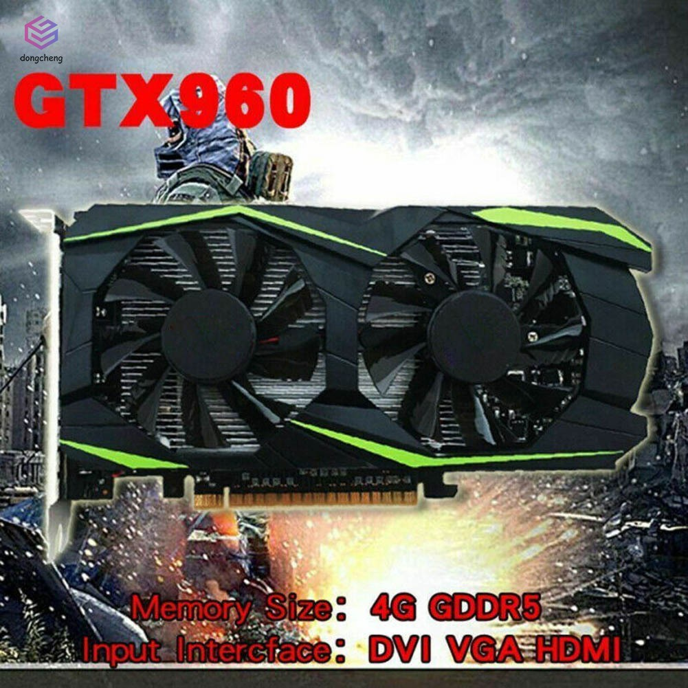 Gaming Video Graphics Card 4GB GDDR5 128bit with Dual Cooling Fan for Computer