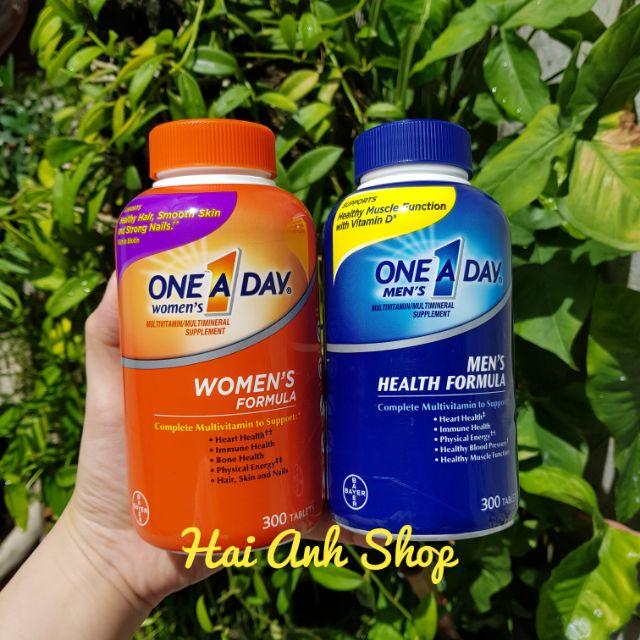 Viên Uống One A Day Women/Men Multivitamin 300 Viên Của...