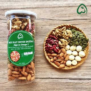 [500gr] Hạt Dinh Dưỡng Mix 5 Hạt (Hạt Macca, , Óc Chó Đỏ, Óc Chó Nếp, Hạnh Nhân, Bí Xanh) – An's Green Food