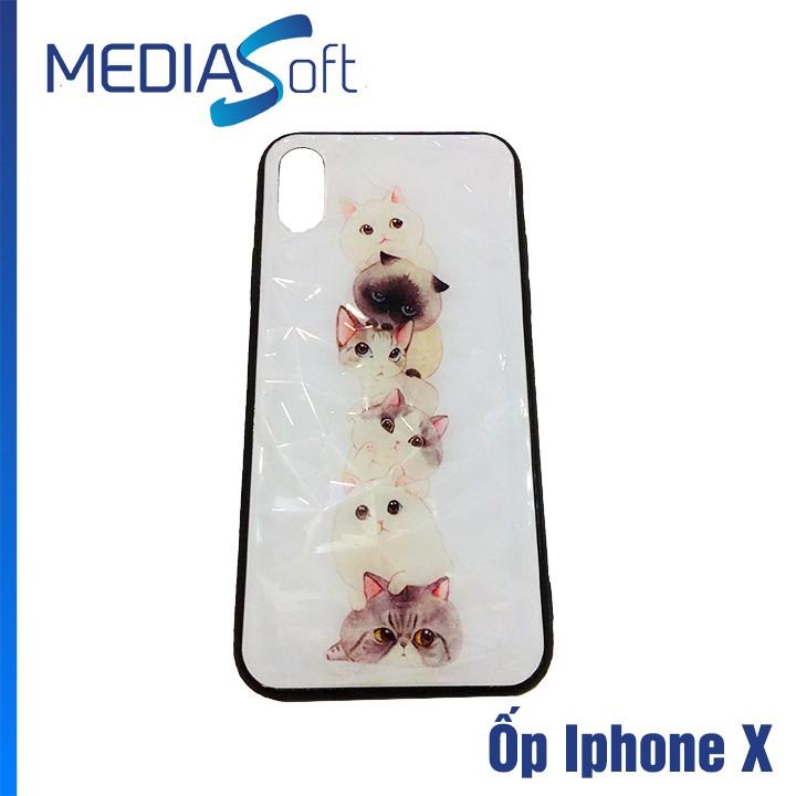 Ốp Lưng  Vân Cứng Iphone X Dễ Thương Dùng Siêu