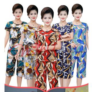 Đồ bộ trung niên nữ B79a - Bộ đồ mặc nhà đẹp - Quần áo thời trang mùa hè sang trong trung tuổi Bộ ngủ giá rẻ cho U40 U50 thumbnail