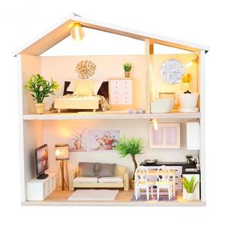 mô hình nhà gỗ nhà búp bê nhẹ nhàng M039