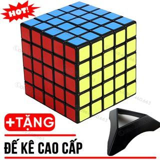 Rubik 5 Tầng 5×5 Stickers đẹp xoay trơn không kẹt rít độ bền cao. Đồ chơi Rubik 5x5x5 MF5s Tặng đế kê