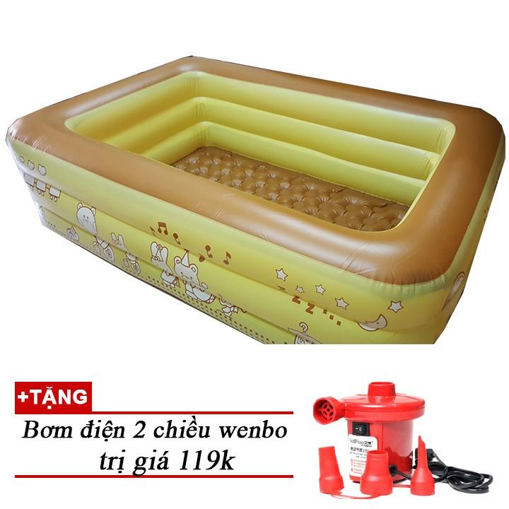 Bể bơi đáy chống trơn trượt cho bé 2m10 KM bơm điện ( cÒN MÀU XANH DƯƠNG) - 2537559 , 264540872 , 322_264540872 , 699000 , Be-boi-day-chong-tron-truot-cho-be-2m10-KM-bom-dien-cON-MAU-XANH-DUONG-322_264540872 , shopee.vn , Bể bơi đáy chống trơn trượt cho bé 2m10 KM bơm điện ( cÒN MÀU XANH DƯƠNG)