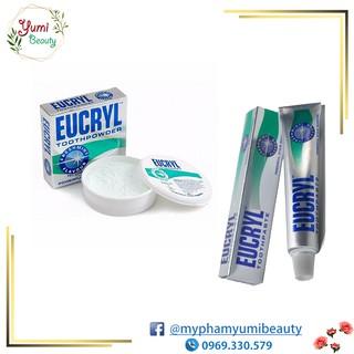 Kem đánh răng / bột tẩy trắng răng Eucryl của Anh