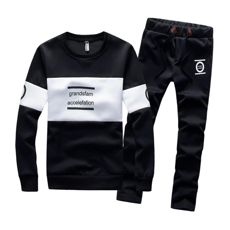Wandergo Autumn Fashion Tracksuit Mans Sportswear Mens Sweatshirt Casual