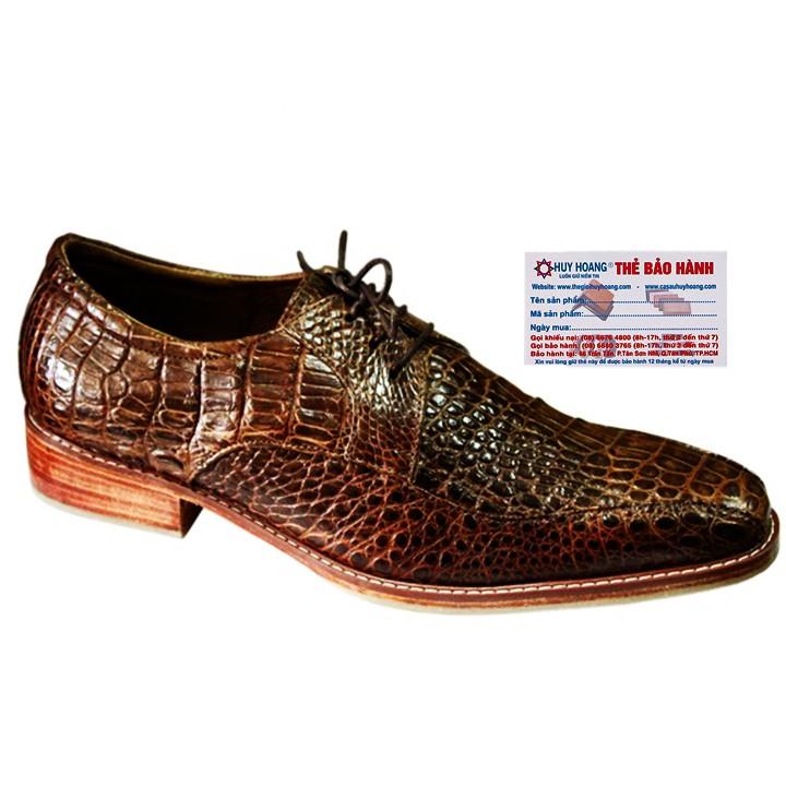 Giày nam da cá sấu cột dây màu nâu đất HP7212 - 3309668 , 1141181106 , 322_1141181106 , 7699000 , Giay-nam-da-ca-sau-cot-day-mau-nau-dat-HP7212-322_1141181106 , shopee.vn , Giày nam da cá sấu cột dây màu nâu đất HP7212