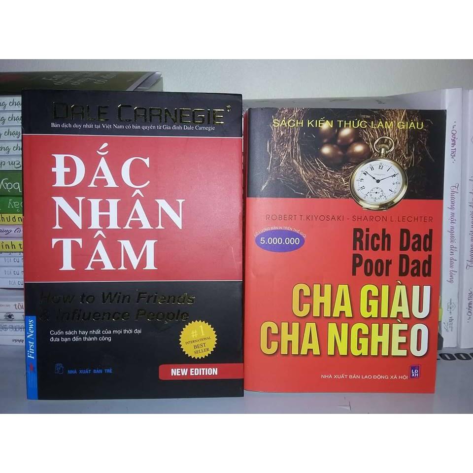 Sách - Combo 2 Cuốn: Đắc Nhân Tâm + Cha Giàu Cha Nghèo