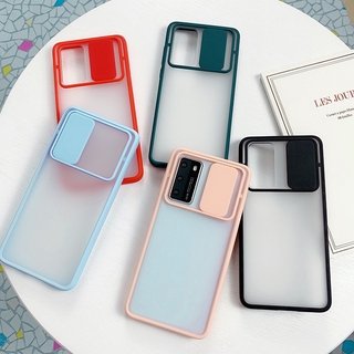 Push Pull Protection Candy Transparent Case OPPO A52 A72 A92 Realme 6 6i 5 5i 5S Narzo 10 10A Casing Shockproof Phone Cover