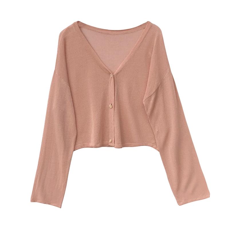 [Mã WACB219 hoàn 12K xu đơn 50K] Áo Khoác Cardigan Tay Dài Vải Lụa Mỏng Thời Trang Mùa Hè Cho Nữ