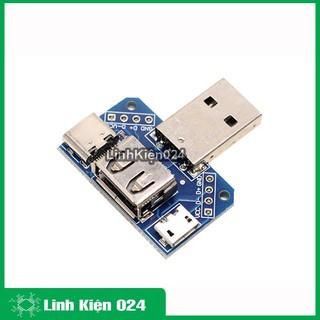 PCB Chuyển Đổi USB A Đực Sang USB Cái-USB Micro-Type C