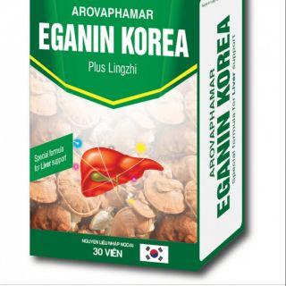 EGANIN KOREA giúp bổ gan, hạ men gan, mẫn ngứa, dị ứng ,Viêm gan cấp.Tặng kèm thêm cho khách 5 ống men tiêu hóa Biostar.