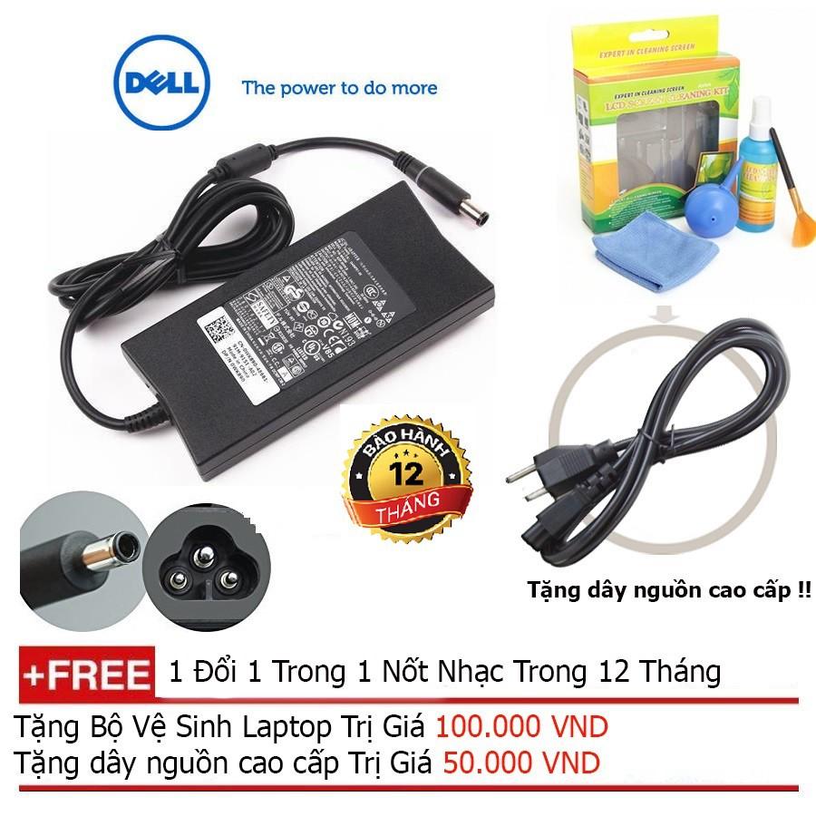 SẠC LAPTOP DELL 19.5V-4.62A Slim - Hàng nhập khẩu + Tặng dây nguồn dài 1.8m, bộ vệ sinh laptop