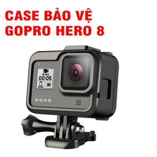 Khung bảo vệ GoPro 8 bằng nhựa màu đen tích hợp khe gắn LED MIC thumbnail