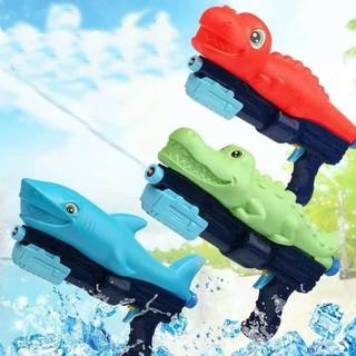 Súng nước cá mập, cá sấu, khủng long Súng bắn nước đồ chơi trẻ em, phun áp lực xa an toàn cho bé mẫu mới 2021 thumbnail