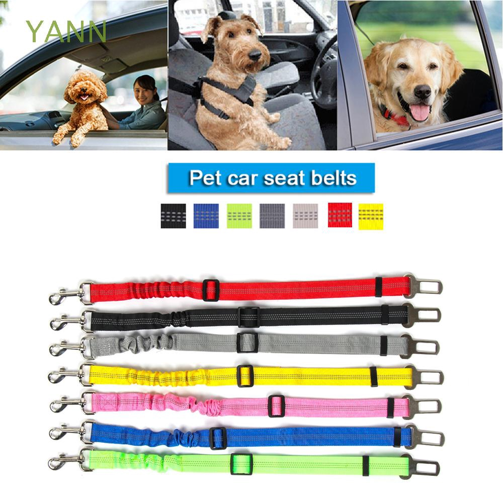 YANN Nylon Useful Elastic Safety Harness Pet Seatbelt