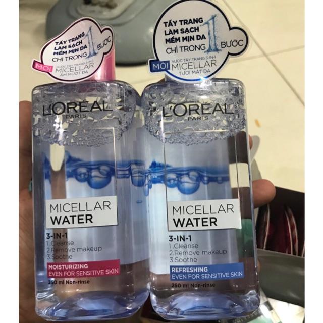 Nước tẩy trang dưỡng ẩm L'OREAL Paris Micellar Water 3in1 - 400ml