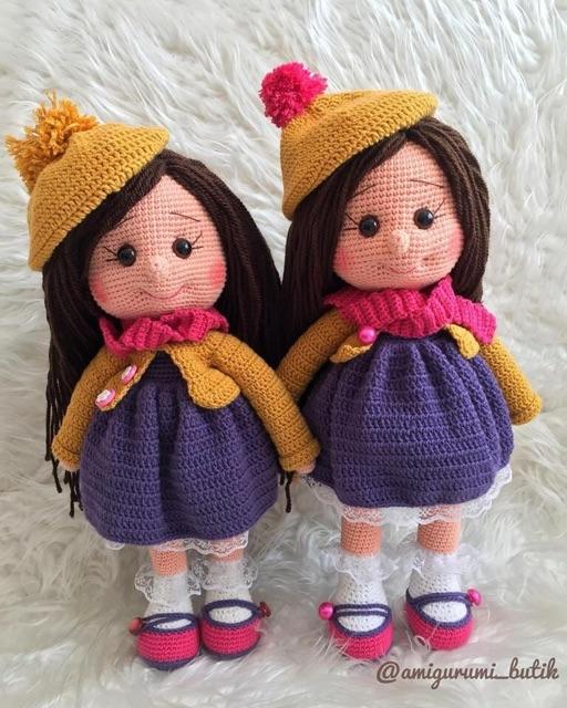 Bup bê tuần lộc Amigurumi Doll Olivia 50cm (size lớn)