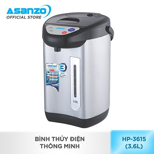 [Nhập ASANZOT7 giảm 10%] Bình thủy điện thông minh Asanzo HP-3615 (3.6 lít)