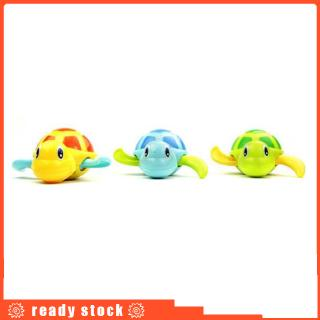 3pcs Wiggly Swimming Turtles Wind-up Floating Bath/Pool/Tub Toys Clockwork Chain Water Animal for