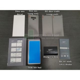 Bộ 4 dán dẻo Gor Galaxy Note 9 Full màn hình mặt trước và mặt sau