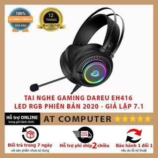 Tai nghe chơi game Dareu EH416 ❤️FREESHIP❤️ Giả lập 7.1, có mic chống ồn, led RGB – ATcomputer
