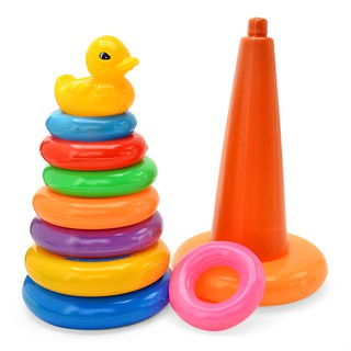Đồ chơi tháp xếp chồng vòng vịt loại trung