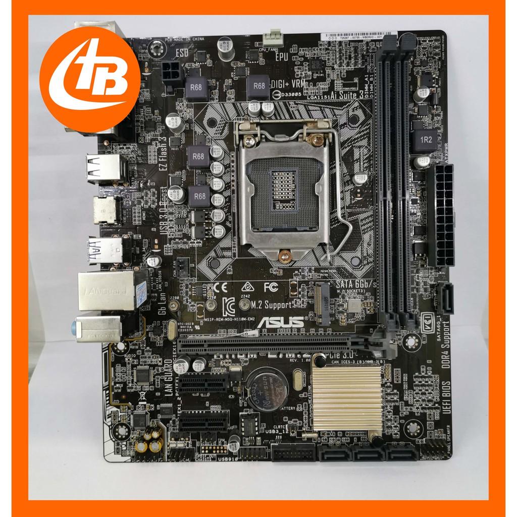 Main H110 ASUS (có M2), MSI mod bios i3 9100f, i3 8100 theo yêu cầu