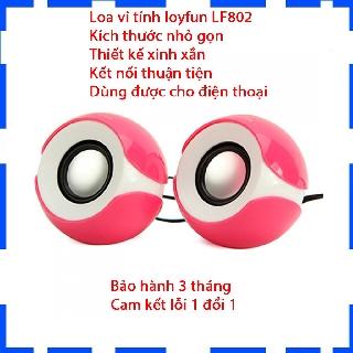 Loa vi tính 2.0 Loyfun LF-802 - Loa mini - Âm thanh cục chất - Bảo hành 6 tháng
