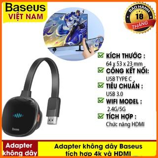 Adapter Không Dây Baseus Meteorite Shimmer Wireless Display Adapter Kết Nối 4K HDMI Cho TV, Máy Tính, Màn Hình Ô Tô