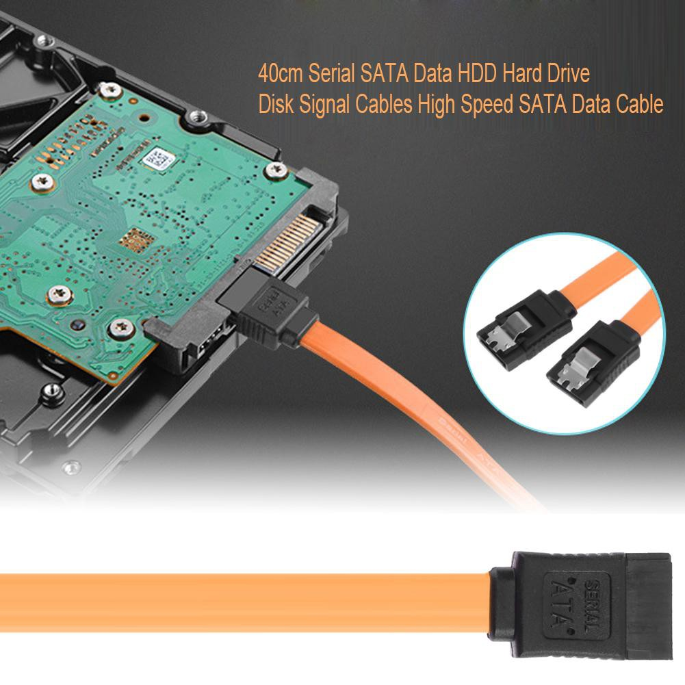 40cm SATA HDD Hard Drive Optical Drive Double Chip Data Cable with Buckle easygoingbuy.vn♪♫♬♩♪☆ Giá chỉ 10.000₫
