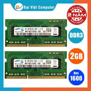 Ram Laptop 2GB DDR3 bus 1600 PC3 12800S (hãng ngẫu nhiên) samsung hynix kingston …