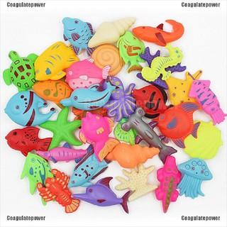 【Coagulatepower】 3 PCS Magnetic Fishing Game Set Toy Rod Fish Kids Baby Children