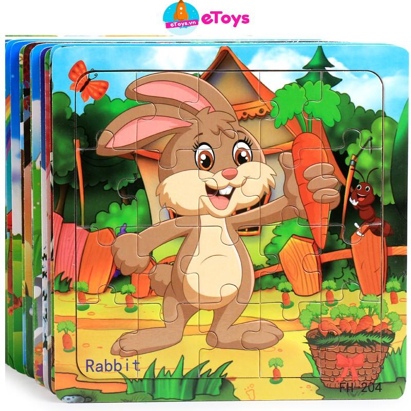 [Mã SKAMSALE10 giảm 10% đơn 200K] Xếp hình cho bé 20 mảnh ghép gỗ nhiều mẫu đẹp, đồ chơi phát triển trí tuệ ETOYS