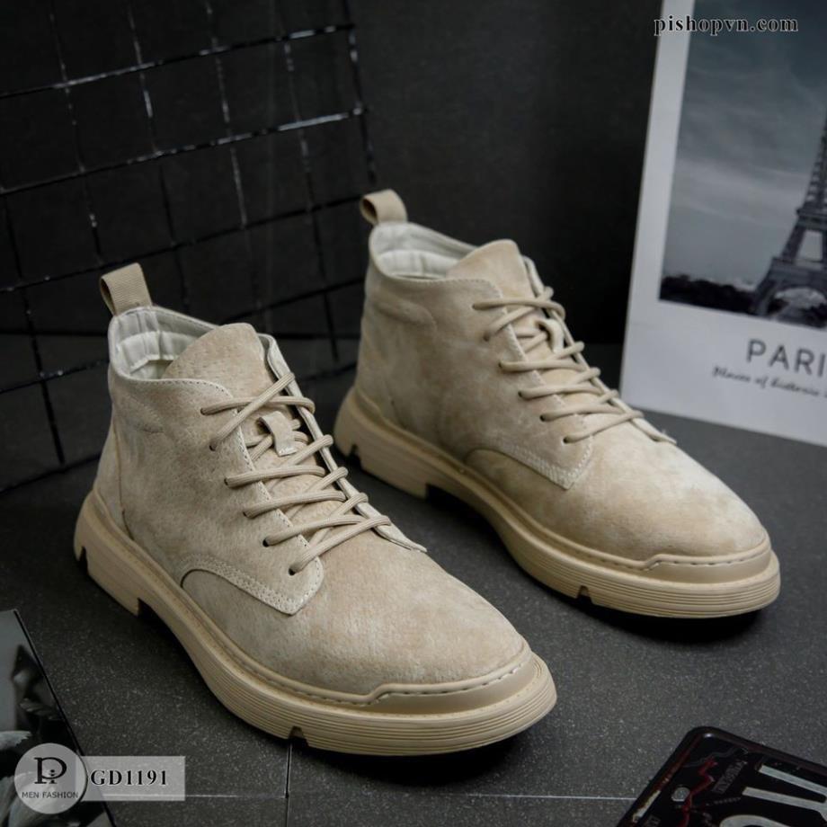 Giày Nam da Lộn Cao Cổ - Thời Trang Cao Cấp GD1191 HTstore