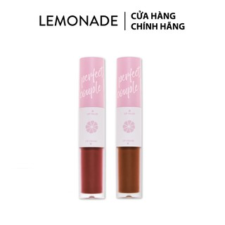 Combo 2 Son kem lì Lemonade Perfect Couple Lip (vỏ hồng) 7.5gx2
