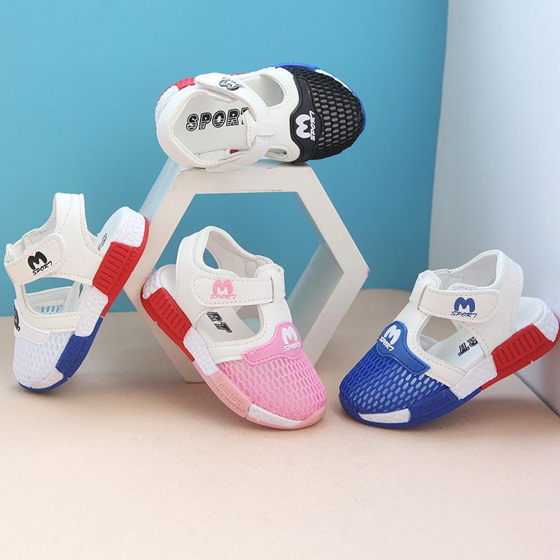 Giày Sandal Phối Lưới Thoáng Khí Cho Bé