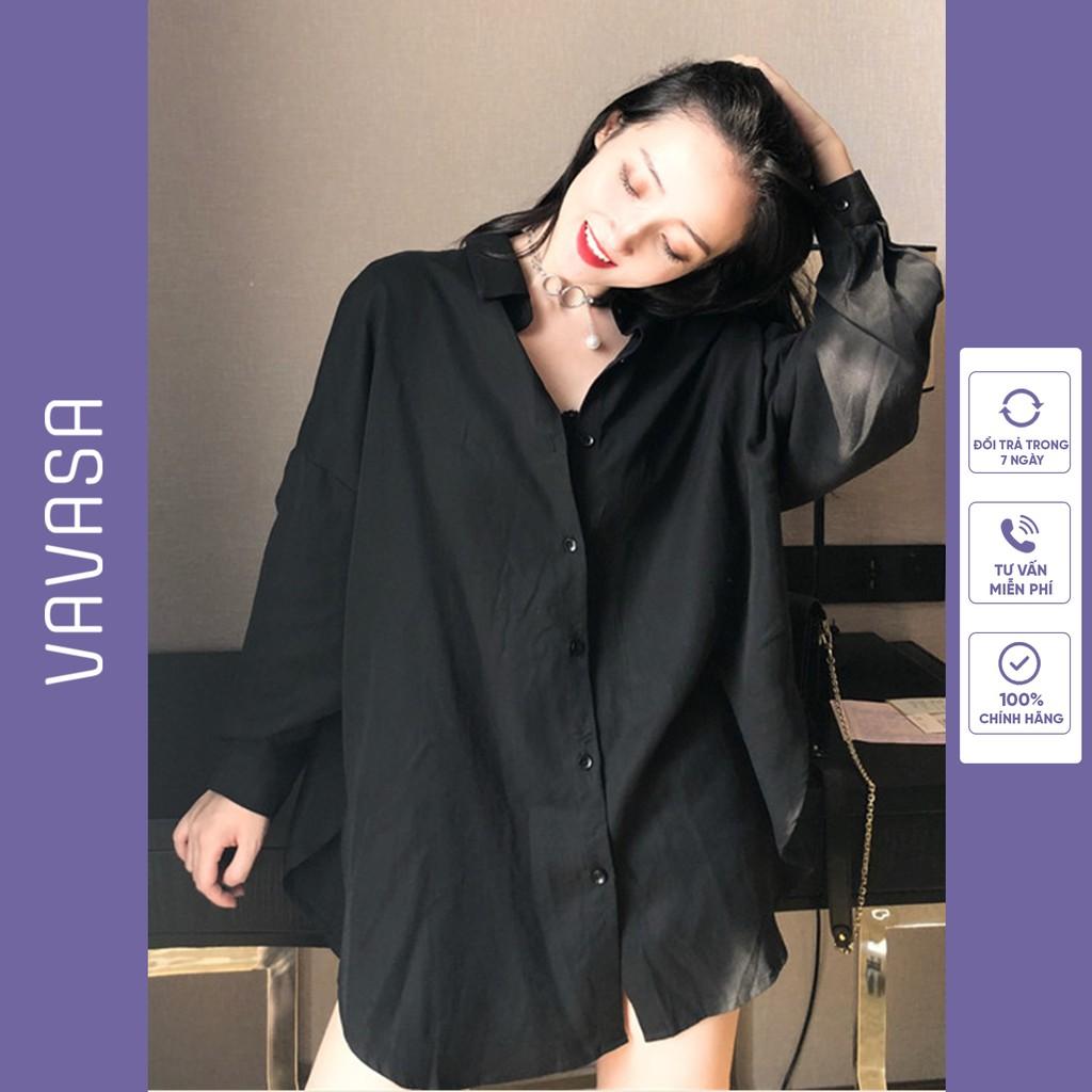Mặc gì đẹp: Lịch sự với Áo sơ mi nữ form rộng kiểu công sở dài tay đẹp SM01