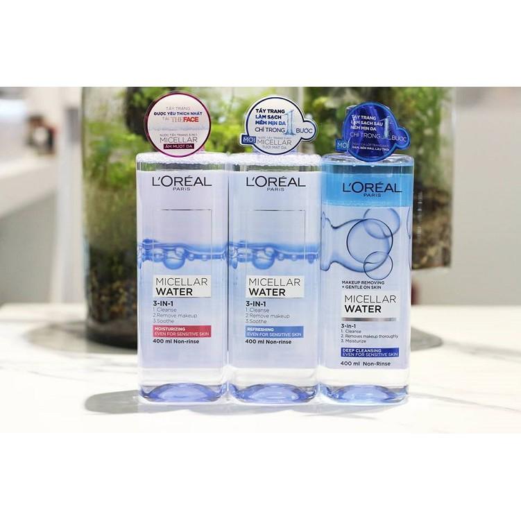 [Mã FMCG2110 hoàn 8% xu đơn 350K] Nước tẩy trang Loreal [Coco Shop] - L'Oreal Paris 3-in-1 Micellar Water